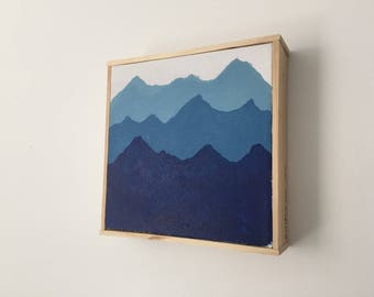 blue mountain canvas art