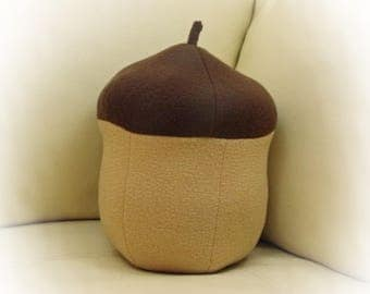Acorn Pillow, Fall Pillow Collection, Oak Leaf Pillow