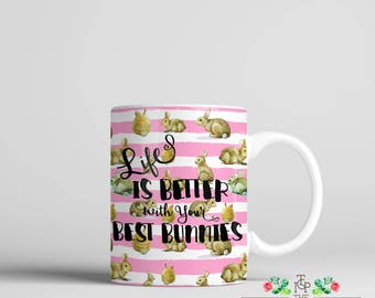 Best Bunnies Coffee Mug exclusively at The Greek Ink Press