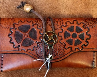 Steampunk Leather Smoking Pouch