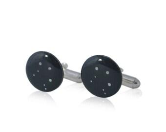 Libra constellation cufflinks, October birthday gift, gift for husband, first anniversary gift, zodiac cufflinks, Libra star sign