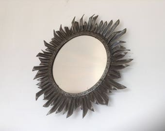 """Fantastic French 1960's Retro, Game of Thrones Mirror, Finished in this Original """"Fer Forge"""" , Typical 1960's Decor, Beautiful Piece!!"""
