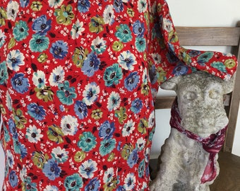 1940s floral day dress UK size 10