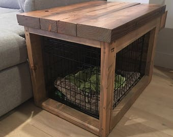 reclaimed wood table crate