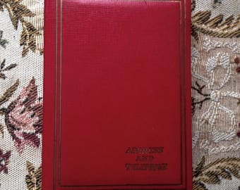Vintage Address Book. Unused. Red Leather Cover. 1960's