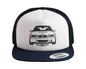 BMW E46 M3 CSL Front Baseball Cap, Trucker Hat