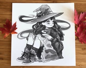 Inktober Witches Art Prints