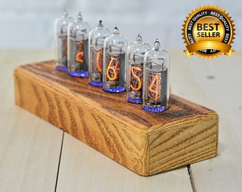 Nixie clock Best Anniversary Gift Father Day Gift Perfect Gift for Your Boyfriend Special Gift Graduation Gift