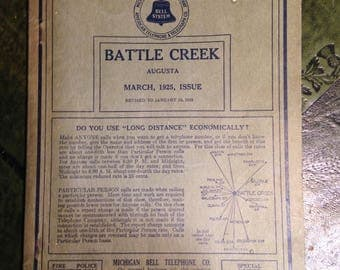 Battle Creek, Michigan Telephone Directory 1925