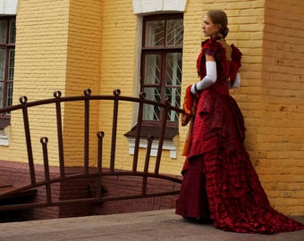 "Made to order ""Autumns Rising"" victorian style dress"
