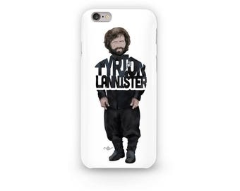 "Tyrion Lannister Phone Case Typography Design from the Game of Thrones series with his Name, ""Tyrion Lannister."""