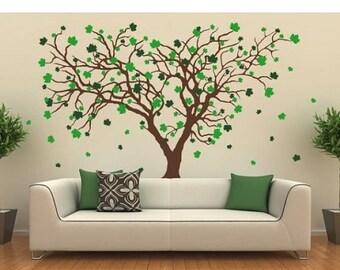 20% OFF Summer Sale Big Maple tree wall decal, sticker, mural, vinyl wall art