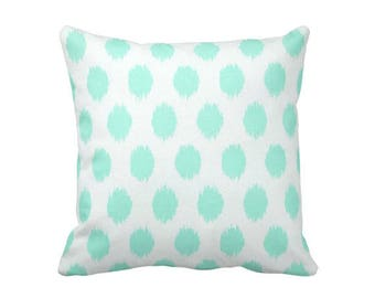 11 Sizes Available: Mint Green Pillow Cover, Green Throw Pillow Cover, Green Ikat Pillows, Dorm Room Decor, Dorm Bedding, College Dorm Girl