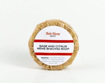 Sage and Citrus Shaving Soap, Men's Shaving Soap, Shaving Soap for Men