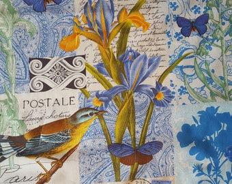 Bleu Parisl Cotton Fabric Sold by the yard