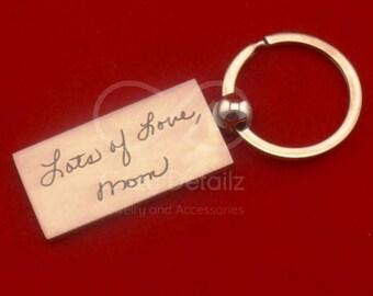 family keepsake, handwriting keychain, logo keychain, kids drawing, engraved keychain, child artwork, signature keychain, memorial gift