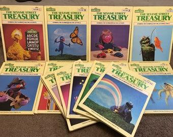 Vintage The Sesame Street Treasury Near Complete Hardback Book Set Lot 14 Great Condition