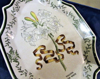 Platter Wall Hanging or Kitchen Serving Vallota Snow White Porcelain Stoneware Vintage