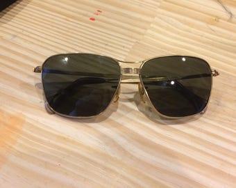 Vintage Brass Sunglasses circa 1970s