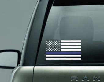 thin blue line decal back the blue decal police lives matter decal thin blue line flag decal support police decal vinyl car decal blue line