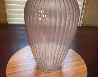 Pink See Through Vase