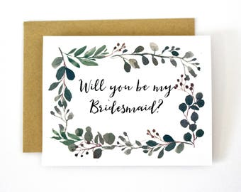 Will you Be My Bridesmaid, Greenary, Chic, succulents, Bridesmaid Proposal, Gift, Bridesmaid Box, Maid