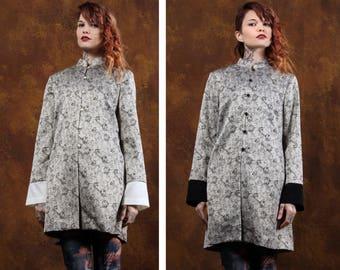 Cheongsam Jackets ※  Cheongsam dresses ※  vintage Chinese Kimono ※  vintage 50s jacket ※  1950s ※  Large ※  Asian Revival ※ Silver