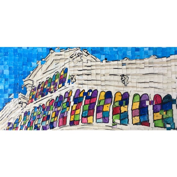"Montgomery, Alabama - Union Station - Architectural Art: 10""x20""Original Painting"