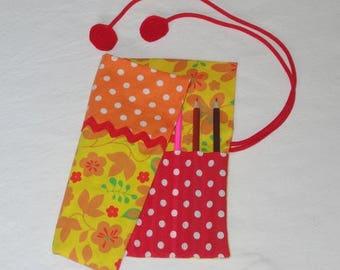 Pencil case - Orange / red / yellow