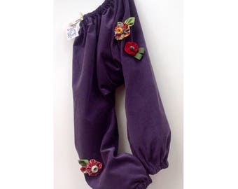 Pants harem pants in corduroy for girl-Cecibirbona