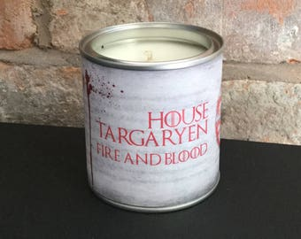 Game of Thrones House Targaryen  scented candle