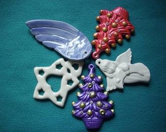 5 Christmas ceramic pendant