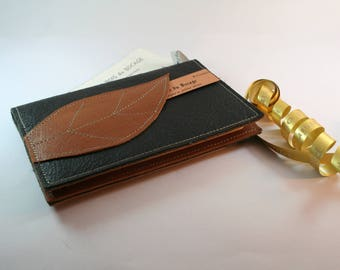 Pocket Leather journal with moleskine notebook