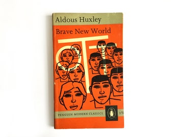Brave New World - Aldous Huxley, 1960s Penguin with Denis Piper cover