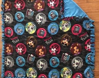 Monster High fleece throw blanket
