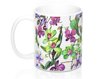 Beautiful Orchid Spring Print Coffee Tea Mug Home Decor Kitchen