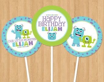Monsters Inc Inspired Printable Party Circles