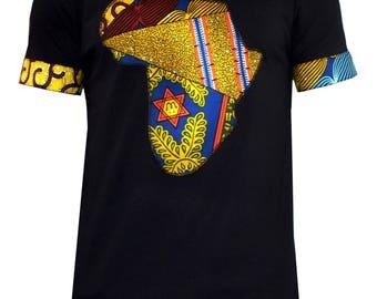D'iyanu Bayo Men's Africa T-shirt (black/multipattern) S-3xl