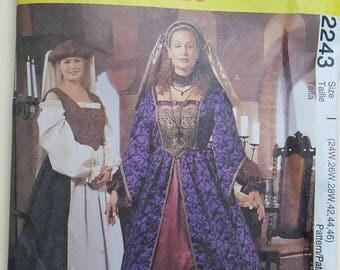 McCall's Costume Pattern Sizes 24W-28W, 42-46  #2243