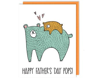 Happy Father's Day Pops!, Handmade Greeting Card