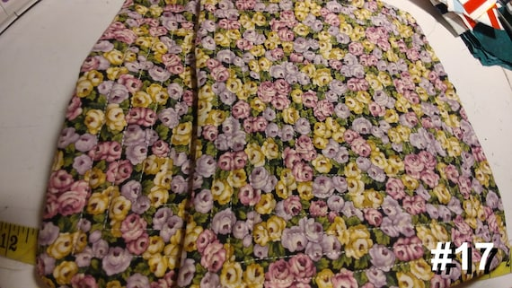 CHARITY (Black with purple, pink & yellow flowers HOT PAD set of 2 #17)