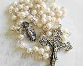 Rosary - Freshwater Pearl Sterling Silver Rosary