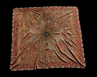 Kashmir shawl circa 1875 signed twice