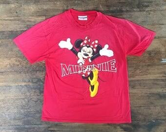 VTG Minnie Mouse T-Shirt - Small Mens -Disney - Mickey Mouse - Disneyland - Walt Disney - 90s - Vintage Tee - Vintage Clothing -