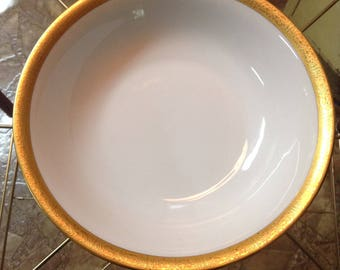Bavarian white and gold serving bowl