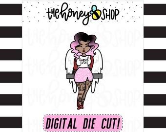 PRINTABLE DIE CUTS | Medium Skin Cupid Die Cut
