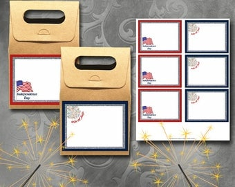 4th of July Glitter Labels Instant Download Printable 4th of July Labels