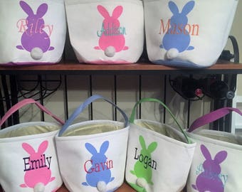 Personalized Easter Bunny Basket/Personalized Basket/ Personalized Easter Bucket