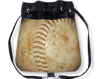 Softball Cinch Bag-Softball Backpack-Sports Bag-Sports Backpack-Softball Bag-Cross Body Bag-Boho Backpack-Cinch Sack-Sling Bag-Messenger Bag