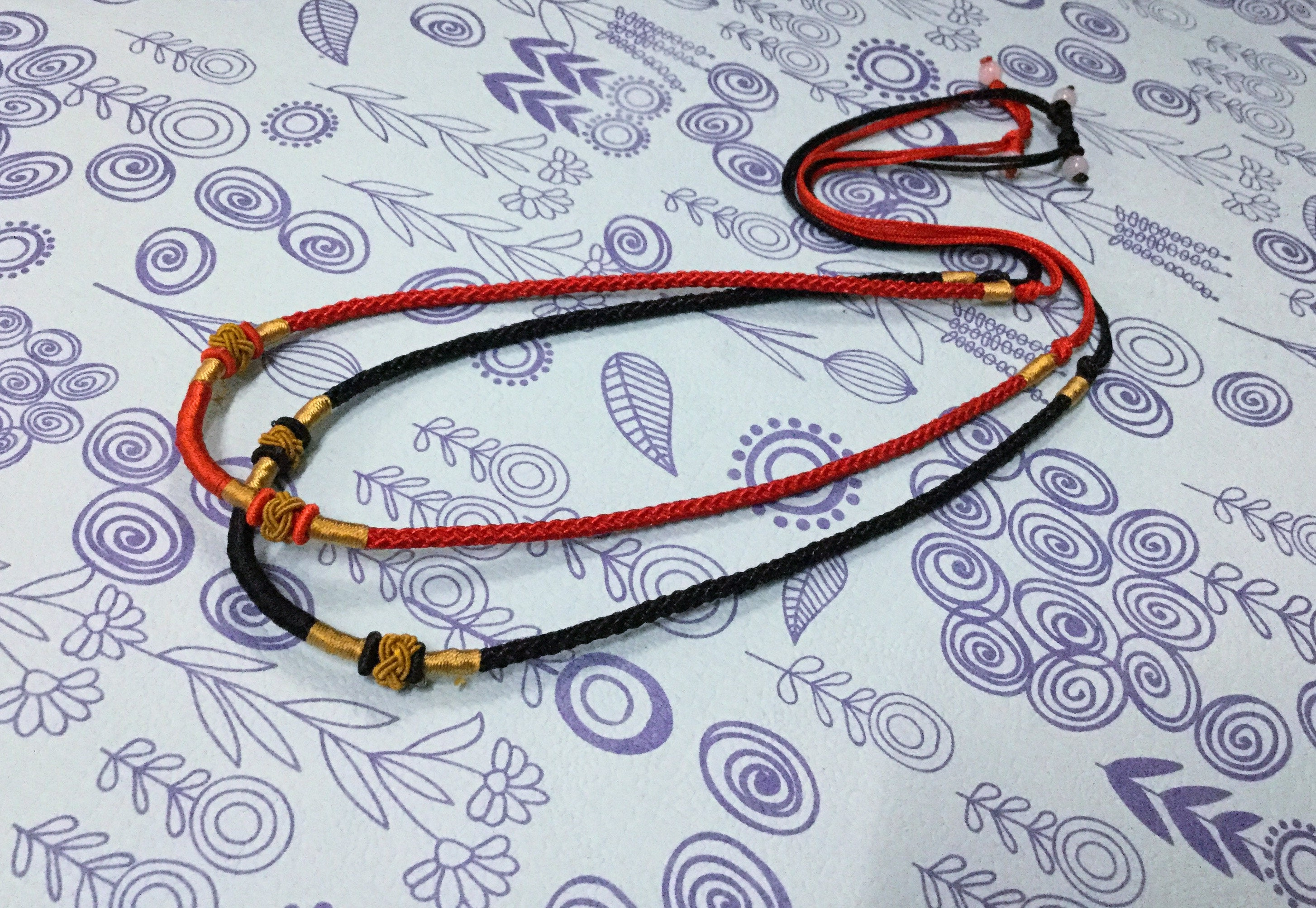 how to create an adjustable necklace string
